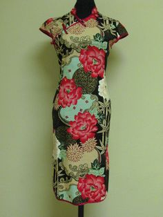 chinese cheongsam/ 60s vintage dress/ by JinMeiW on Etsy