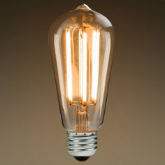 Edison Mills ST58 LED Filament Bulb 6W Vintage Antique Style 60 Watt Equal 2200K Dimmable