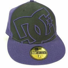 finest selection 58d87 39ff8 Cool item  New Era DC Flat Brim Hat Fitted Size 7.5 Flat Brim Hat,