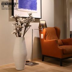 Silver Ting And Glitz With Fluted Floor Vase  Ideas For The House Magnificent Decorative Vases For Living Room Design Ideas