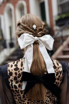 Hair Ribbons, Hair Bows, The Vampires Wife, Low Bun Hairstyles, Nyc Studio, Japanese Hairstyle, Dakota Johnson, Your Hair, Natural Hair Styles