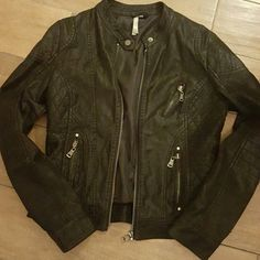 Black Matte Quilted Moto jacket -Almost New/Excellent condition worn once or twice  -Black Matte Womans Moto Jacket -Size Small Purchased at a boutique boutique Jackets & Coats Blazers