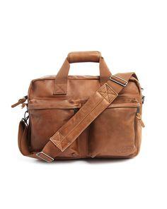 Tomec Camel Leather Day Bag