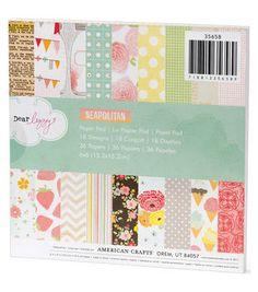 "Dear Lizzy Neapolitan Paper Pad 6""X6"" 36 Sheets-18 Designs/2 Each"
