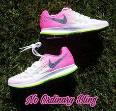 Nike Bling Air Zoom Pegasus 33 Women s by NoOrdinaryBling on Etsy Bling 1f181dd59be