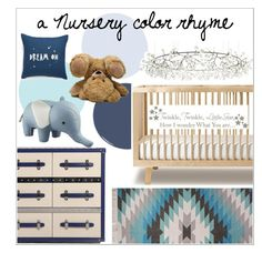 """nursery"" by jennehsheetz ❤ liked on Polyvore featuring interior, interiors, interior design, home, home decor, interior decorating, Nordstrom, Jaipur, Moooi and WallPops"