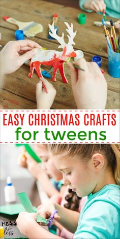 These Easy Christmas Crafts for Tweens are a great way to keep tweens busy during the holiday season. for tweens Easy Christmas Crafts for Tweens Homemade Christmas Decorations, Easy Christmas Crafts, Homemade Christmas Gifts, Christmas Gifts For Kids, Simple Christmas, Sleepover Activities, Fun Activities For Kids, Christmas Activities, Sleepover Party