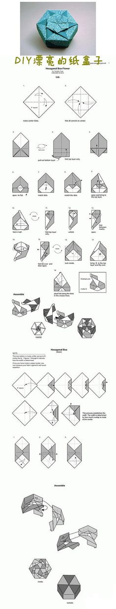 Origami Hexagon Flower Box