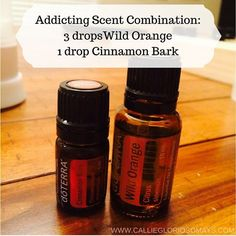 smells amazing!!!! 3 drops doTERRA Wild Orange 1 drop doTERRA // how to use an oil diffuser