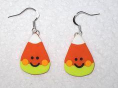 Halloween Candy Corn EarringsCute Smiley Candy CornHalloween
