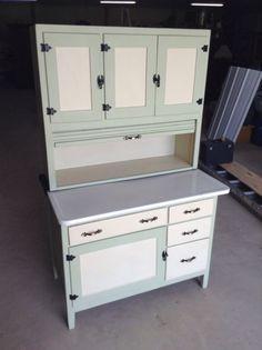 sellers oak tawny cabinets | Antique Hoosier-sellers Kitchen Cabinet-cupboard,painted Cream ...