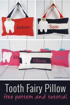 Tooth Fairy Pillow Pattern and Tutorial Follow the simple photo tutorial and learn to sew tooth fairy pillows for all the kids on your list.