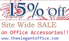 15% off Site Wide Sale Hurryy -   on leather office accessorieswww.theelegantoffice.com