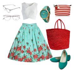 """Summer fashion"" by magdalena-lugumerski ❤ liked on Polyvore featuring Chicwish, Sensi Studio, Olivia Pratt and JADEtribe"