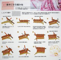 little japanese book of knitting stitches The Diagram, Japanese Books, Step By Step Drawing, Knitting Stitches, Needlework, Knitting Patterns, This Book, Symbols, Sewing
