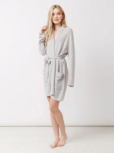 Soft Goat Women's Bathrobe Light Grey