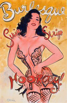 pinupgirlsart:    Olivia De Berardinis  Dita Von Teese, Burlesque: Strip, Strip, Hooray, poster study