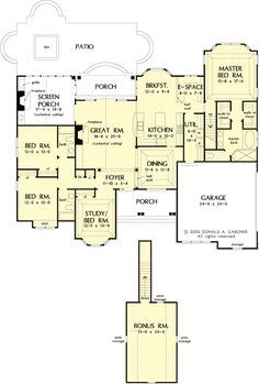 The Carinthia House Plans First Floor Plan - House Plans by Designs Direct.