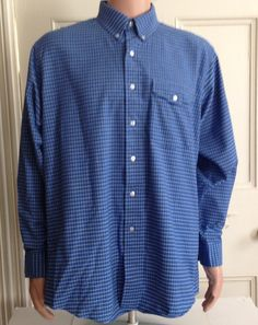 L L Bean Shirt Mens Size 17 35 Long Sleeve Made by aroundtheclock