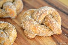 100% Whole Wheat Soft Baked Pretzels...the cinnamon sugar variety!