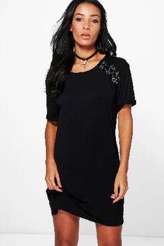 boohoo Side Lace Up T-Shirt Dress - black DZZ61053 Vivienne Side Lace Up T-Shirt Dress - black http://www.MightGet.com/january-2017-13/boohoo-side-lace-up-t-shirt-dress--black-dzz61053.asp