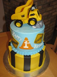 1st birthday party cake for boys | This cake was made for twin boys on their 1st Birthday. Their mom ...