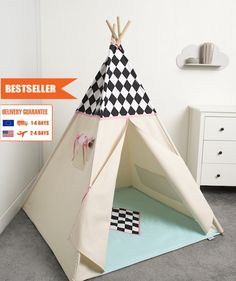 children teepee tent, kids play tent, tipi, teepee tent, set 6 elements indian wigwam Diamond by cozydots on Etsy