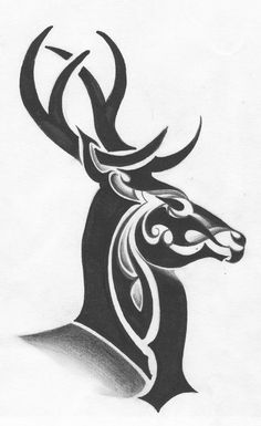 There are many reasons to opt for a tribal deer tattoo, and only you can know the true answer. Here are a few tribal deer tattoos worth considering. Tribal Drawings, Tribal Art, Tattoo Drawings, Tribal Tattoos, Art Drawings, Tribal Horse Tattoo, Cervo Tattoo, Fuchs Illustration, Stag Tattoo