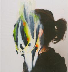 Juxtapoz Magazine - Paintings on Photographs by Charlotte Caron