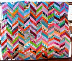 chevron column quilt