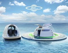 Jet Capsule sits along side th UFO house boat