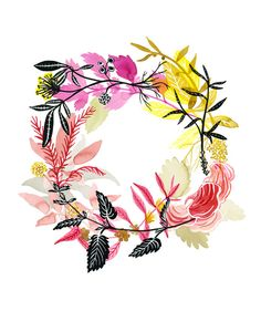 Energy Wreath Print by KatieVernon on Etsy