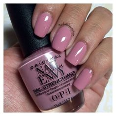 OPI Nail Envy Strength in Color Collection Hawaiian Orchid ❤ liked on Polyvore featuring beauty products, nail care, nail polish, opi, opi nail care, opi nail lacquer and opi nail varnish