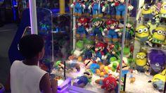 Super Mario Bros. Claw Machine Challenge At The Boardwalk