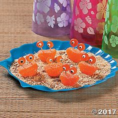 Add a sweet touch to your under-the-sea celebration or luau party with these adorable gummy candies. Set these little lobsters on your candy buffet table for ...