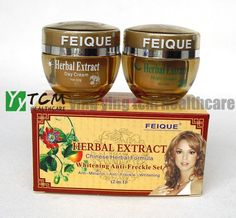 Find More Day Creams & Moisturizers Information about FEIQUE Herbal extract Chinese herbal formula whitening anti freckle cream for face skin care day cream+night cream,High Quality cream for black spots,China cream for acne rosacea Suppliers, Cheap cream whitening from Ying Ying TCM Health Care on Aliexpress.com