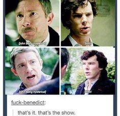 Sherlock seems more annoyed with mustache John rather than normal John