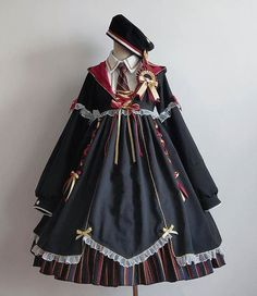 New Release: Puppet Night 【-The Cute Little Witch-】 Lolita OP Dress Set Pretty Outfits, Pretty Dresses, Cool Outfits, Kawaii Dress, Kawaii Clothes, Kawaii Fashion, Lolita Fashion, Old Fashion Dresses, Fashion Outfits