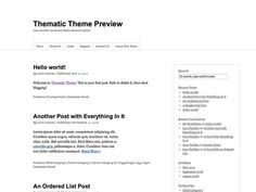 The ultimate in SEO-ready themes, Thematic is a highly extensible, WordPress Theme Framework featuring 13 widget-ready areas, drop-down menus, grid-based layout samples, plugin integration, shortcodes for your footer, & a whole lot more. Perfect for any blog and the starting point for theme development.  http://www.csshero.org/themes/thematic/