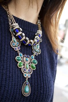 layering statement necklaces
