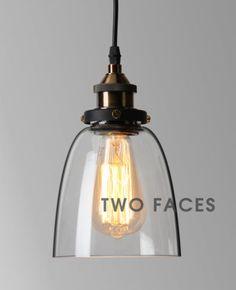 Vintage-Industrial-Retro-Pendant-Light-Lamp-Shade-Edison-filament-bulb-included