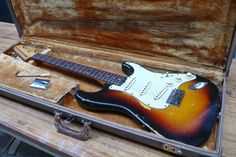 Original Sunburst Fender Stratocaster 1962 Slab Board Brown Tolex Case | eBay