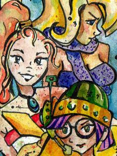 Chrono Trigger - Past Tense - Print of Watercolor Painting by Jen Tracy - Marle Lucca Ayla. $15.00, via Etsy.