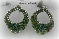 Free pattern bicones 4 mm superduo in 2 different colors seed beads 8/0 10/0 seed beads or 11/0