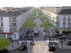 L'avenue de la République - St-Nazaire