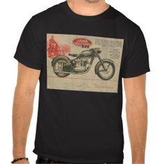 e7bd1ec8 Vintage 30's Jawa Motorcycle Europe Ad Tshirts you will get best price  offer lowest prices or