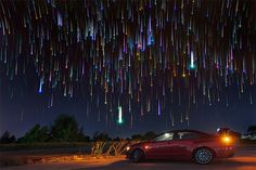 Star Trails Pictured In The Night Sky