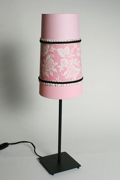 fabric mod podge lampshade Instructions Here: