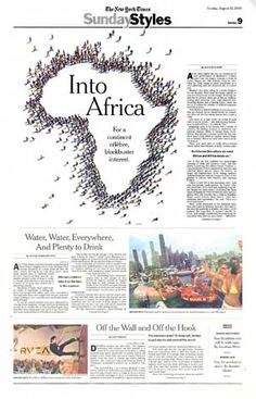 """In August 2006, my 3D artist Lauren de Napoli and I created an illustration for the New York Times Sunday Styles section, entitled """"Into Africa."""""""