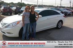 Thank you to Melissa Jones on your new 2013 Hyundai Sonata from Elijah Riess and everyone at Absolute Hyundai!